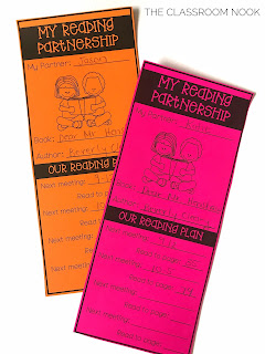 reading partnerships bookmarks