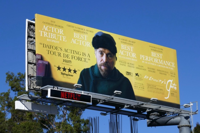 Willem Dafoe At Eternitys Gate Oscar billboard