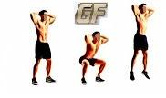 Fitness dan olah raga dirumah dengan squat jump