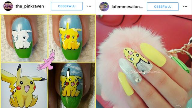 jak namalować pikachu na paznokciach
