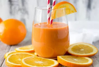 Orange Smoothie Stress Busting