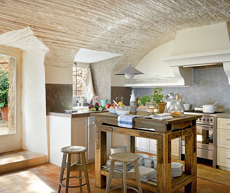 PUNTXET Un antiguo pajar rehabilitado con estilo provenzal #cocina