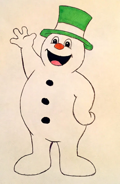 frosty the snowman, snowman, frosty, drawing