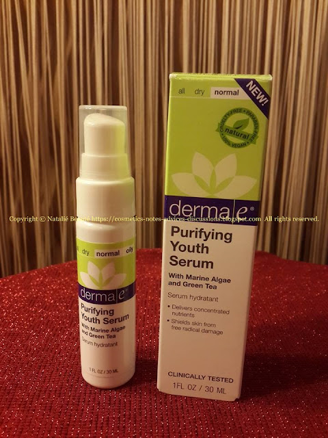 PURIFYING YOUTH SERUM and HYDRATING FACIAL TREATMENT OIL by DERMA E REVIEW AND PHOTOS NATALIE BEAUTE