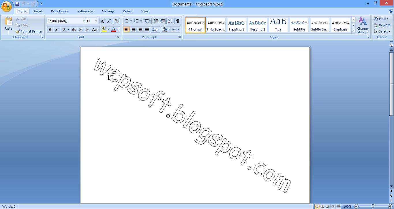 Microsoft Office 2007 - wepsoft.blogpsot.com