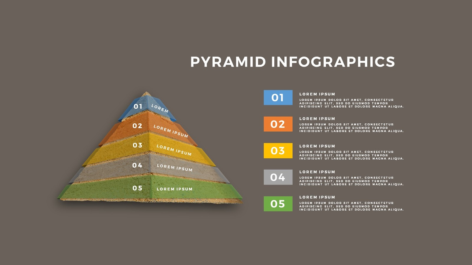 Realistic Pyramid Infographics Free Powerpoint Template