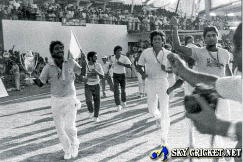 Javed Miandad historic six in Sharjah against India