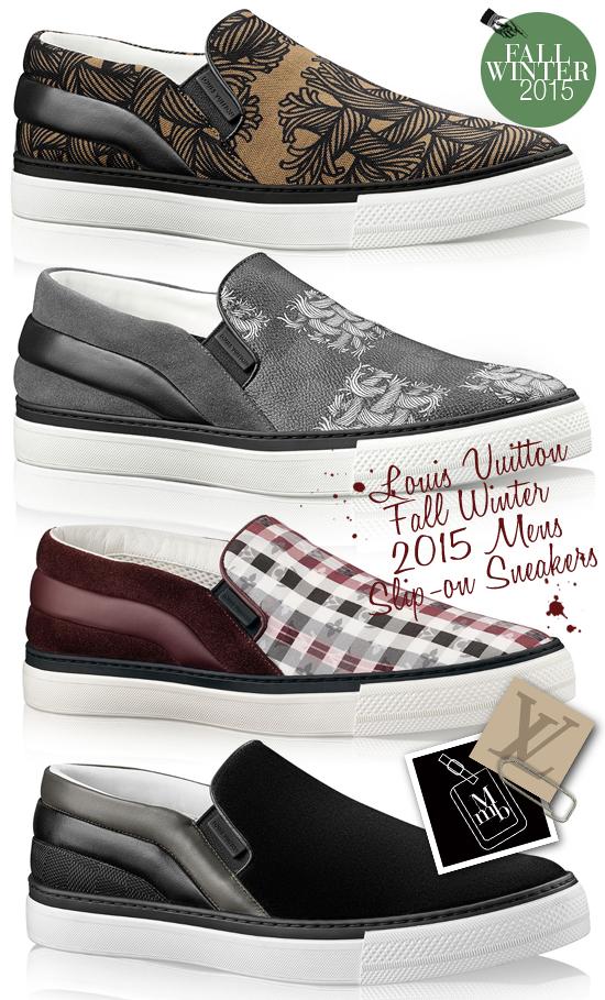 7505a5e6c019 Louis Vuitton Fall Winter 2015 Mens Twister + Sprinter Slip On Sneakers