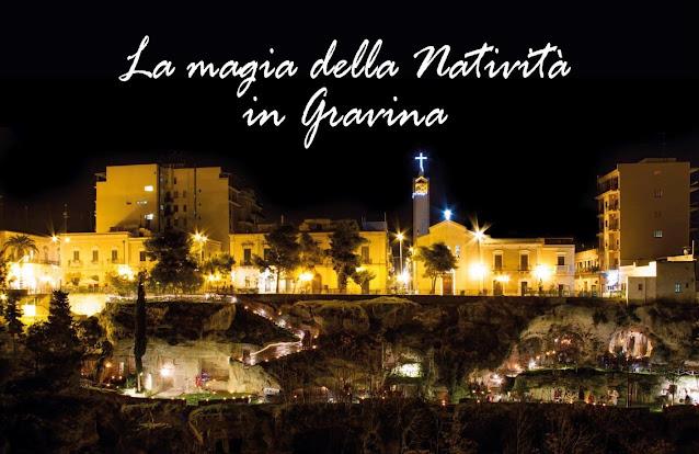 vista notturna sul villaggio rupestre Santa Marina