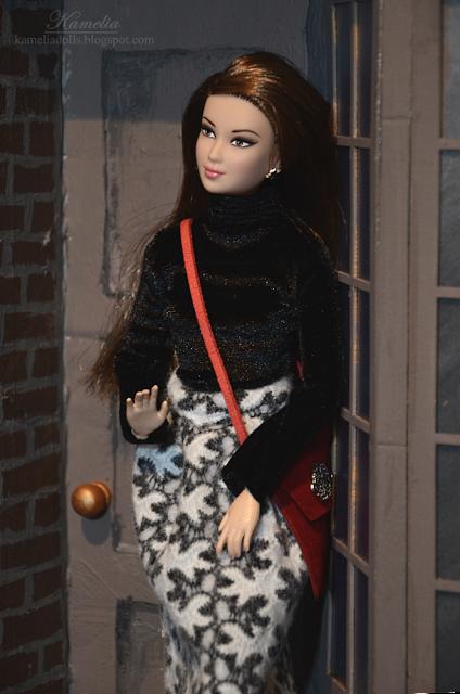 """Velvet turtleneck for 12"""" doll"""