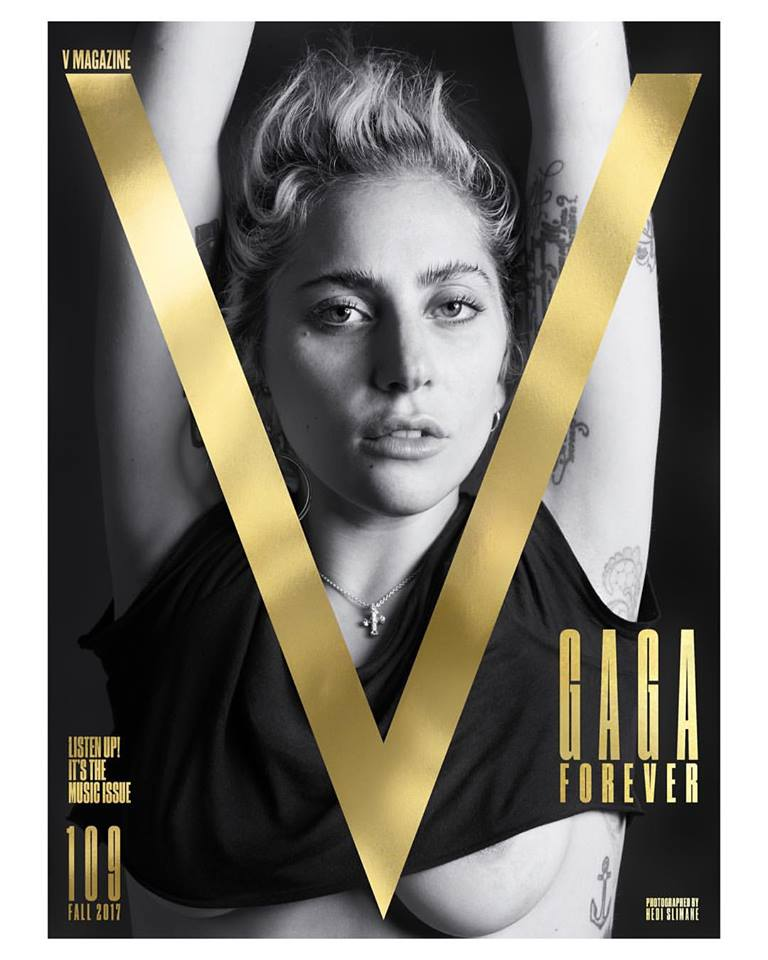 Lady Gaga bares underboob for V Magazine