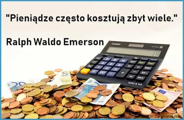 Ralph Waldo Emerson, cytaty o pieniądzach.
