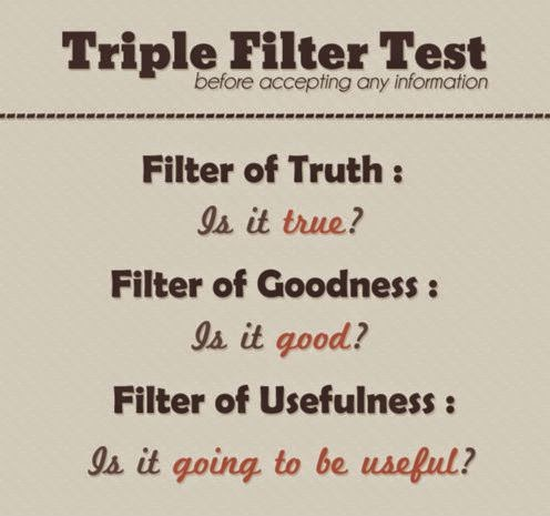 Socrates Triple Filter Test For Gossips