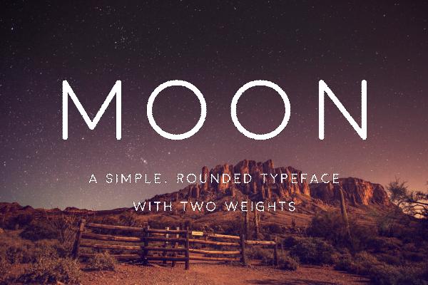 Download Font Terbaru dan Terbaik Januari 2016 - Moon Free Font