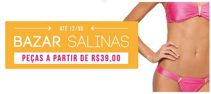 Promoção de biquinis Salinas na Americanas