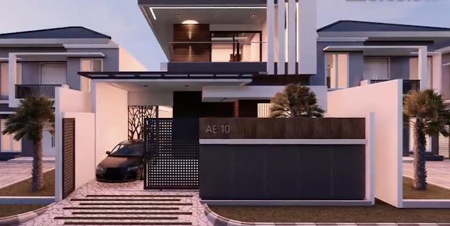 Desain Rumah Modern 2 lantai 3 kamar di Lahan 10x20