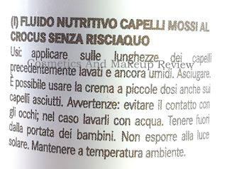 MaterNatura - Fluido nutritivo capelli mossi al crocus senza risciacquo - modo d'uso