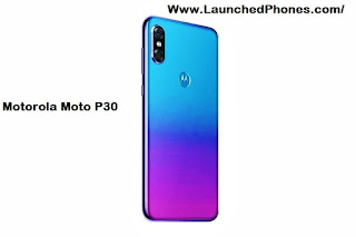 White too Blue color variants are launched for this telephone Motorola Moto P30 Short review too specifications