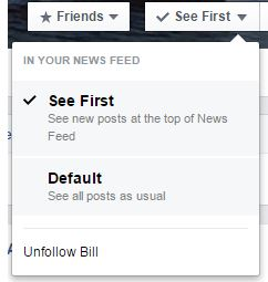 Facebook Following Options