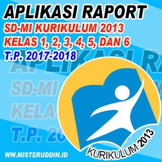 Download Aplikasi Raport K-13 SD-MI Kelas 1,2,3,4,5, dan 6 Tahun 2018-2019