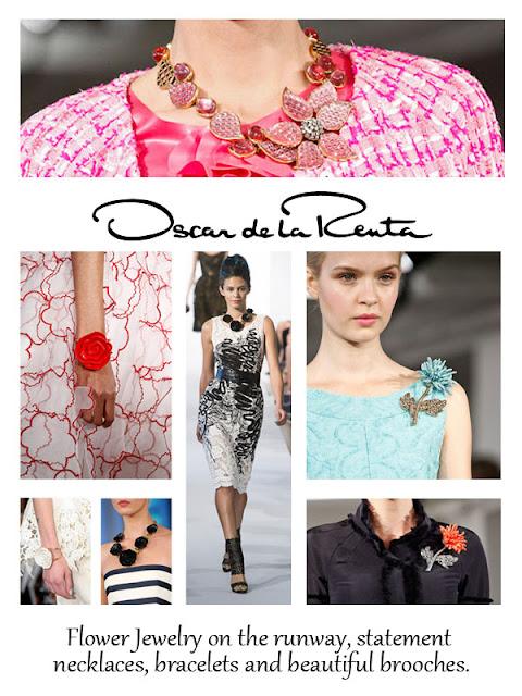 Spring 2013 Jewelry Trend Floral Oscar De La Renta