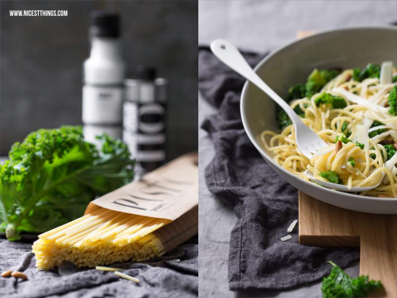 Kale Spaghetti Grünkohl Pasta Rezept