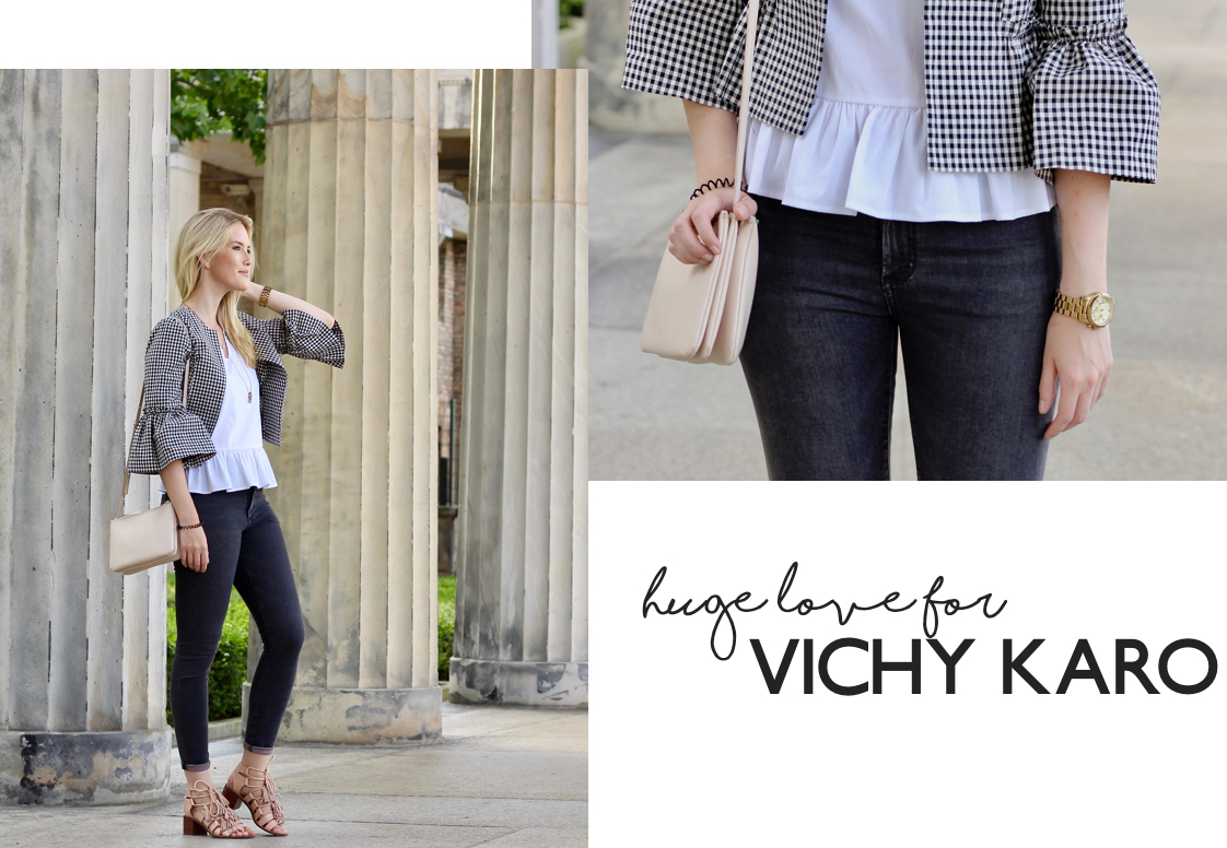 Outfit Fashionblogger Fashion Vichy Karo Blazer Gingham Topshop Forever21 &other stories www.theblondelion.com