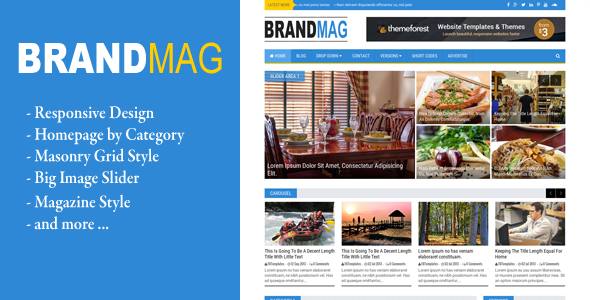 Brand Mag - Responsive Blogger News/Magazine