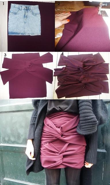 faldas, drapeadas, tiras, labores, costura, patrones, tutoriales