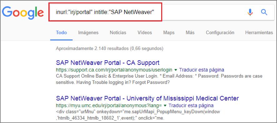 Great Figura B squeda de sistemas SAP NetWeaver en Google