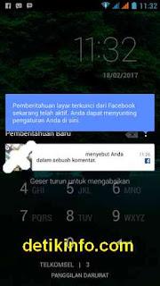 nonaktifkan pemberitahuan masuk FB di layar
