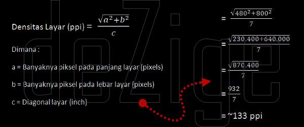 Cara dan Rumus Menghitung Ketajaman Layar Berdasar Pixel Density (PPI)