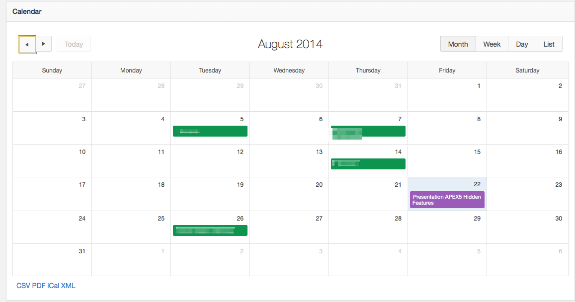APEX 5 New Calendar Features