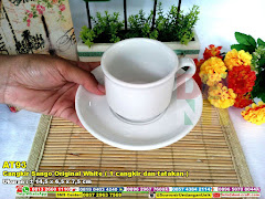Cangkir Sango Original White ( 1 Cangkir Dan Tatakan )