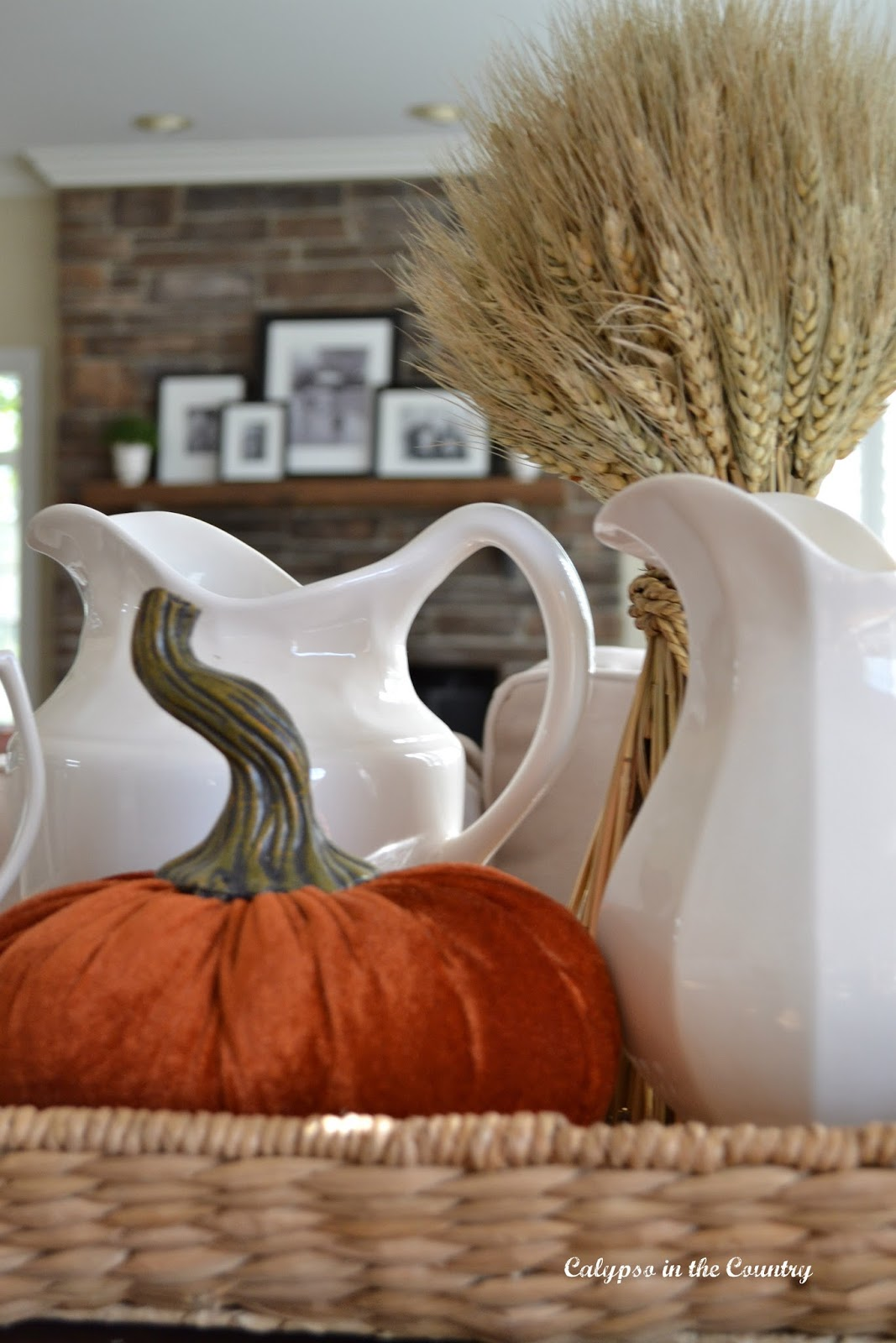 Fall Decorating with Velvet Pumpkins
