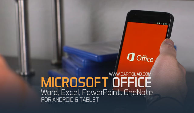 Microsoft Word, Excel, PowerPoint, OneNote For Android Tablet