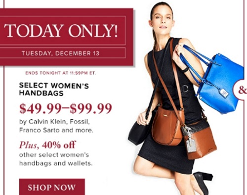 Hudson's Bay 50% Off Women's Handbags