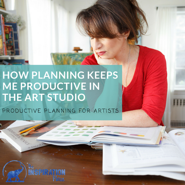 daily planning prompts | organization for artists | art journaling goals | goal setting for artists | How Planning Keeps Me Productive in the Art Studio + FREE printable giveaway of creative planning prompts → http://schulmanart.blogspot.com/2017/04/how-planning-keeps-me-productive-in-art.html
