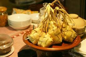 Ketupat Is Traditional Food for Celebrate Iedul Fitri