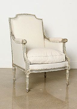 bergere chair chippy cream French