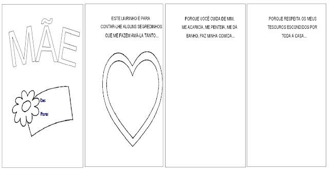 Confira nesta postagem um livrinho pronto para imprimir para trabalhar o Dia das Mães com desenhos para colorir.  Este livrinho e para o aluno presentear e demonstrar para sua mãe o quão importante ela é.