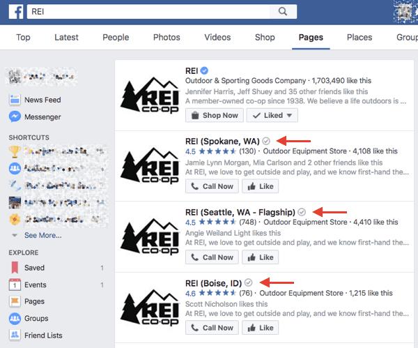 على غرار شارة التحقق الزرقاء المتوفرة للعلامات التجارية الرئيسية ، تتلقى الشركات المحلية التي تم التحقق منها (أو مواقع الامتياز) على Facebook شارة تحقق رمادية تظهر بجوار اسمها في نتائج البحث وعلى صفحتها.