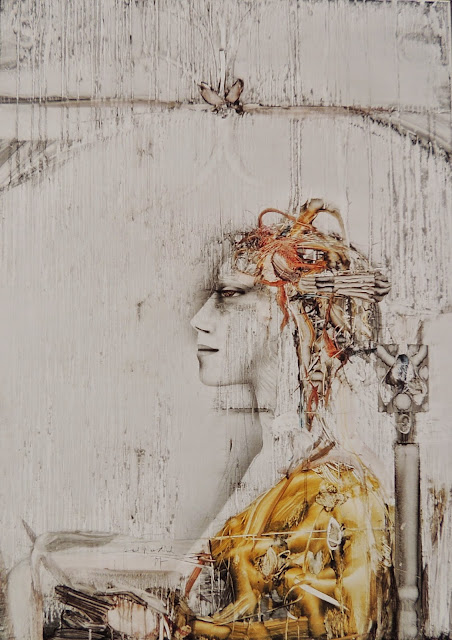 Paul Wunderlich original painting oil on canvas