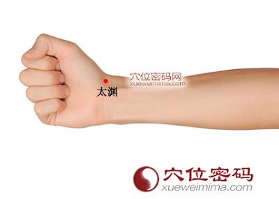 太淵穴位 | 太淵穴痛位置 - 穴道按摩經絡圖解 | Source:xueweitu.iiyun.com