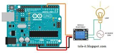 Rangkaian Mengontrol Relay arduino