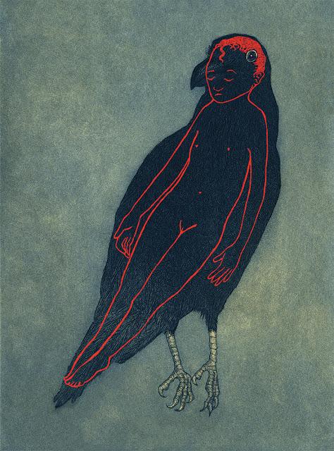 Whoopidooings: Carmen Wing - Audrey Niffenegger Raven Girl