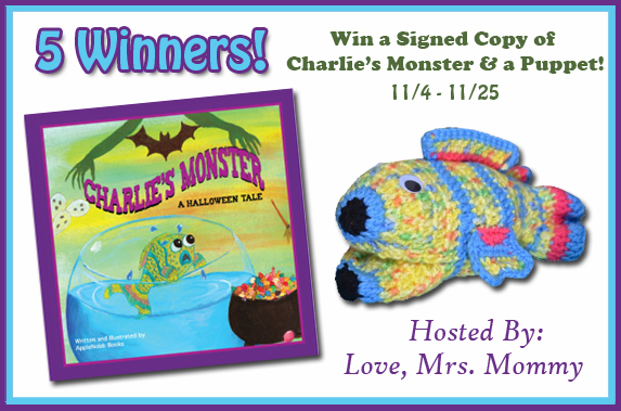 Signed Copy of Charlie's Monster & A Puppet-5 Winner Giveaway! 11/25 @ApplenobbBooks