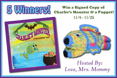 Enter the Signed Copy of Charlie's Monster & A Puppet Giveaway. Ends 11/25