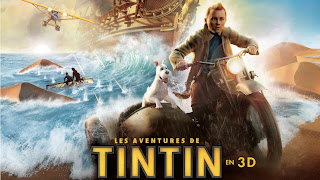 Tintin and His Dog on Motorbike 3D HD Wallpaper