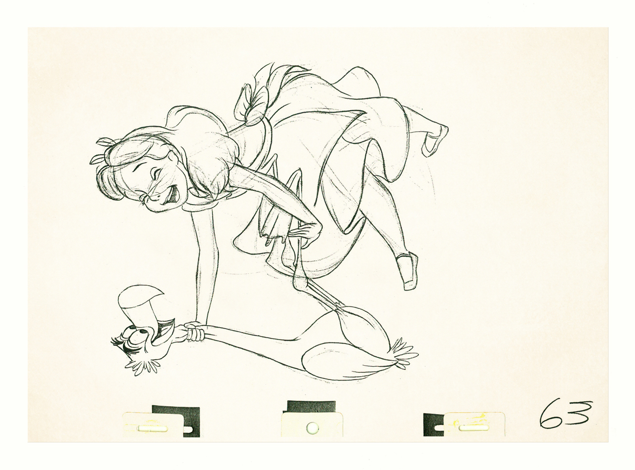 Action Analysis: Milt Kahl - Alice In Wonderland Pencil Tests